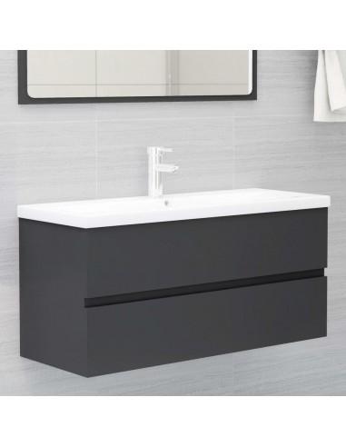 Spintelė praustuvui, pilkos spalvos, 100x38,5x45cm, MDP | Vonios baldų komplektai | duodu.lt
