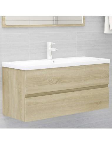Spintelė praustuvui, sonoma ąžuolo spalvos, 100x38,5x45cm, MDP | Vonios baldų komplektai | duodu.lt