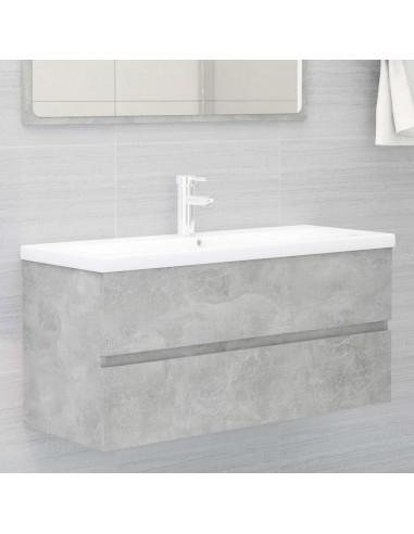 Spintelė praustuvui, betono pilkos spalvos, 100x38,5x45cm, MDP | Vonios baldų komplektai | duodu.lt