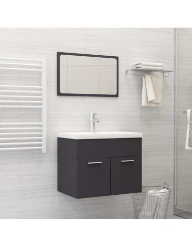 Vonios kambario baldų komplektas, 2 dalių, pilkos spalvos, MDP   Vonios baldų komplektai   duodu.lt