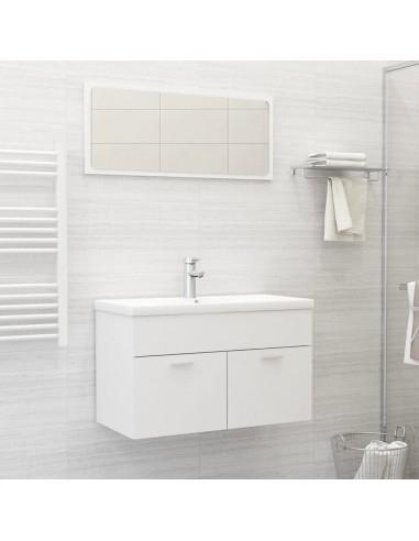 Vonios kambario baldų komplektas, 2 dalių, baltos spalvos, MDP   Vonios baldų komplektai   duodu.lt