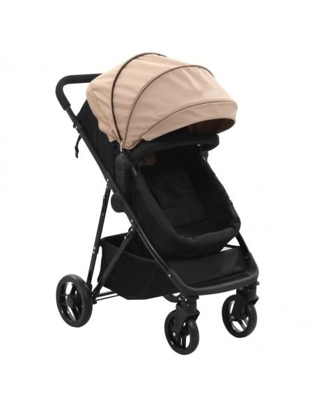 Vaikiškas dvivietis vežimėlis, plienas, pilkas/juodas  | Kūdikių Vėžimėliai | duodu.lt