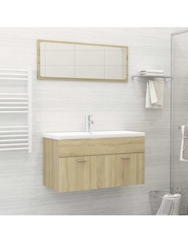 Vonios kambario baldų komplektas, 2 dalių, ąžuolo spalvos, MDP   Vonios baldų komplektai   duodu.lt