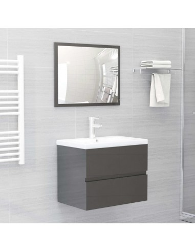 Vonios kambario baldų komplektas, 2 dalių, pilkas, MDP, blizgus   Vonios baldų komplektai   duodu.lt