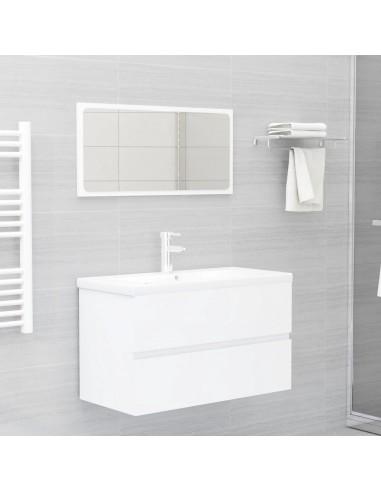 Vonios kambario baldų komplektas, 2 dalių, baltos spalvos, MDP | Vonios baldų komplektai | duodu.lt