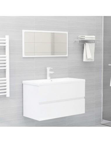 Vonios kambario baldų komplektas, 2 dalių, baltas, MDP, blizgus   Vonios baldų komplektai   duodu.lt