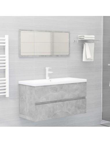 Vonios kambario baldų komplektas, 2 dalių, betono pilkas, MDP   Vonios baldų komplektai   duodu.lt