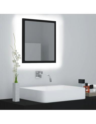 Vonios kambario veidrodis, juodos spalvos, 40x8,5x37cm, MDP | Vonios Spintelės | duodu.lt