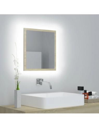 Vonios kambario veidrodis, ąžuolo spalvos, 40x8,5x37cm, MDP   Vonios Spintelės   duodu.lt