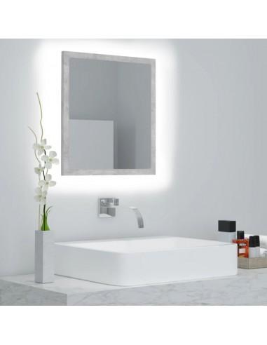 Vonios kambario veidrodis, betono pilkas, 40x8,5x37cm, MDP   Vonios Spintelės   duodu.lt