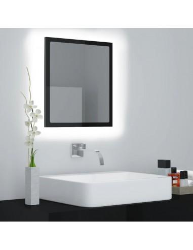 Vonios kambario veidrodis, juodas, 40x8,5x37cm, MDP, blizgus | Vonios Spintelės | duodu.lt