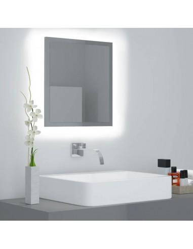Vonios kambario veidrodis, pilkas, 40x8,5x37cm, MDP, blizgus   Vonios Spintelės   duodu.lt