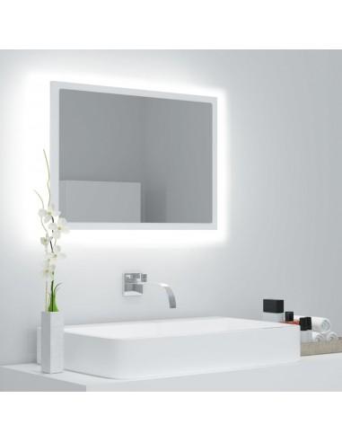 Vonios veidrodis su LED apšvietimu, baltas, 60x8,5x37 cm, MDP  | Vonios Spintelės | duodu.lt