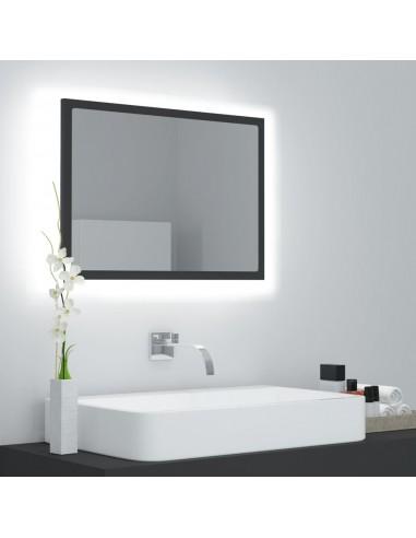 Vonios veidrodis su LED apšvietimu, pilkas, 60x8,5x37cm, MDP    Vonios Spintelės   duodu.lt