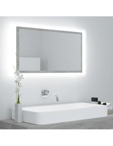 Vonios veidrodis LED, pilkas, 80x8,5x37cm, MDP, ypač blizgus | Vonios Spintelės | duodu.lt