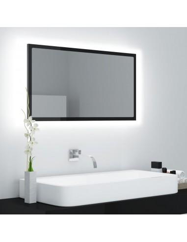Vonios veidrodis LED, juodas, 80x8,5x37cm, MDP, blizgus   Vonios Spintelės   duodu.lt