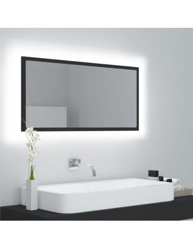 Vonios kambario veidrodis su LED, pilkas, 90x8,5x37cm, MDP   Vonios Spintelės   duodu.lt