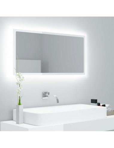 Vonios kambario veidrodis, baltas, 90x8,5x37cm, MDP, blizgus | Vonios Spintelės | duodu.lt