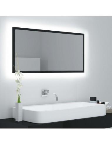 Vonios kambario veidrodis, juodas, 90x8,5x37cm, MDP, blizgus | Vonios Spintelės | duodu.lt
