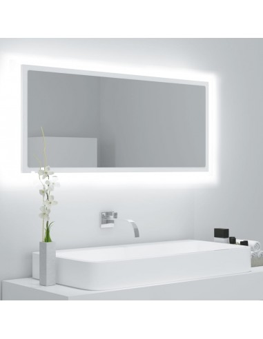 Vonios kambario veidrodis, baltos spalvos, 100x8,5x37 cm, MDP | Vonios Spintelės | duodu.lt