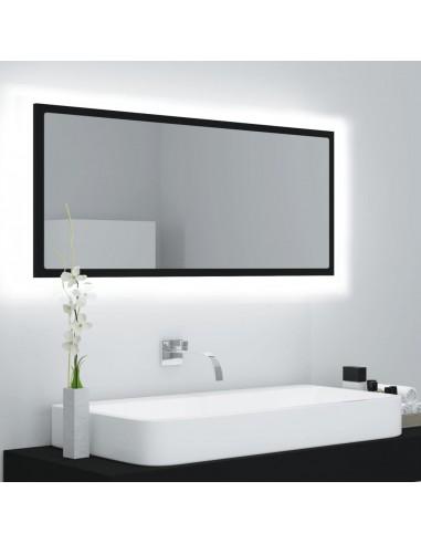 Vonios kambario veidrodis, juodos spalvos, 100x8,5x37 cm, MDP   Vonios Spintelės   duodu.lt
