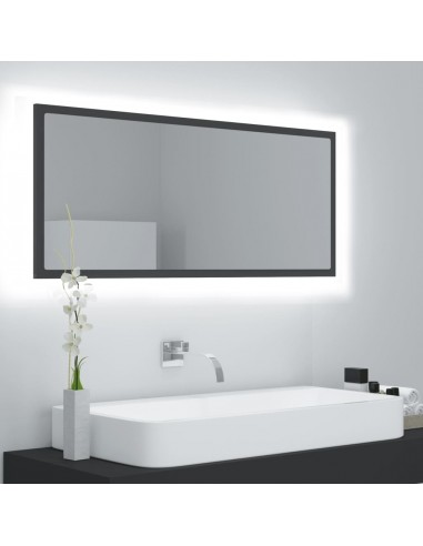 Vonios kambario veidrodis, pilkas, 100x8,5x37cm, MDP | Vonios Spintelės | duodu.lt