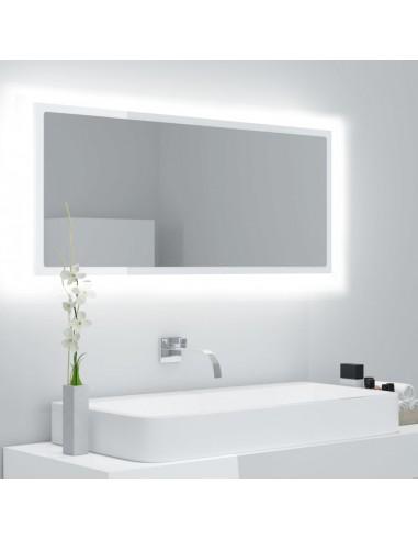 Vonios kambario veidrodis, baltos blizgios spalvos, 100x8,5x37 cm, MDP | Vonios Spintelės | duodu.lt
