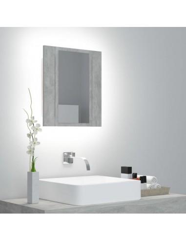 Veidrodinė vonios spintelė su LED, betono pilka, 40x12x45cm | Vonios Spintelės | duodu.lt