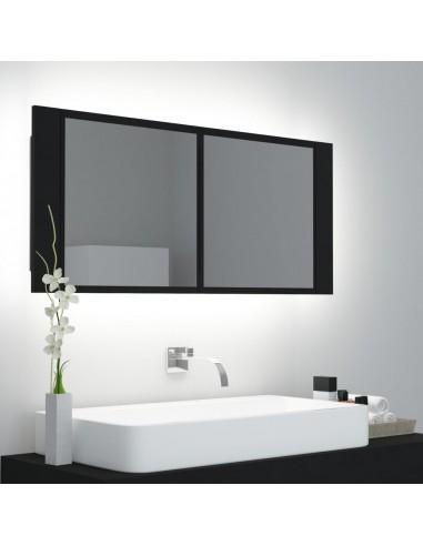 Veidrodinė vonios spintelė, juodos spalvos, 100x12x45 cm   Vonios Spintelės   duodu.lt