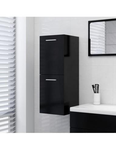 Vonios kambario spintelė, juodos spalvos, 30x30x80cm, MDP | Vonios baldų komplektai | duodu.lt