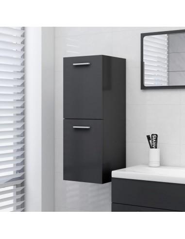 Vonios kambario spintelė, pilkos spalvos, 30x30x80cm, MDP | Vonios baldų komplektai | duodu.lt