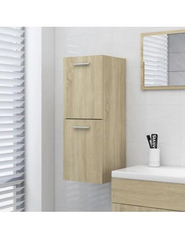 Vonios kambario spintelė, ąžuolo spalvos, 30x30x80cm, MDP | Vonios baldų komplektai | duodu.lt