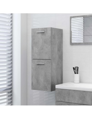 Vonios kambario spintelė, betono pilka, 30x30x80cm, MDP | Vonios baldų komplektai | duodu.lt