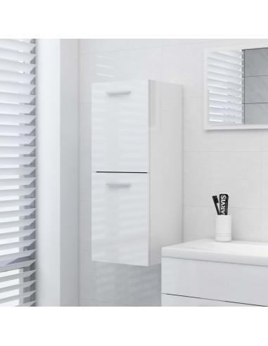 Vonios kambario spintelė, balta, 30x30x80cm, MDP, ypač blizgi   Vonios baldų komplektai   duodu.lt