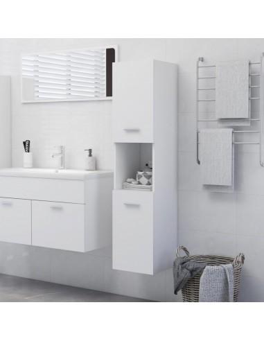 Vonios kambario spintelė, baltos spalvos, 30x30x130cm, MDP   Vonios baldų komplektai   duodu.lt