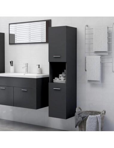 Vonios kambario spintelė, pilkos spalvos, 30x30x130cm, MDP   Vonios baldų komplektai   duodu.lt