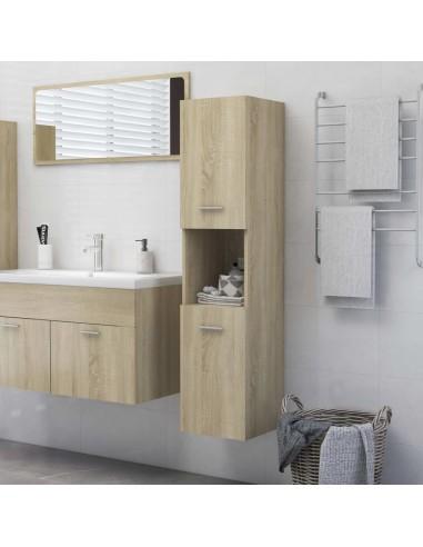Vonios kambario spintelė, ąžuolo spalvos, 30x30x130cm, MDP | Vonios baldų komplektai | duodu.lt