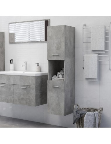 Vonios kambario spintelė, betono pilka, 30x30x130cm, MDP   Vonios baldų komplektai   duodu.lt