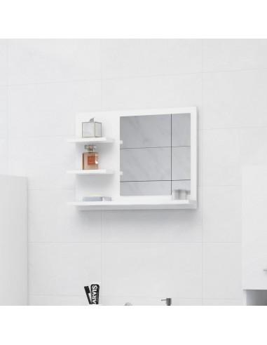 Vonios kambario veidrodis, baltos spalvos, 60x10,5x45cm, MDP | Vonios Spintelės | duodu.lt