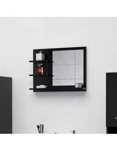 Vonios kambario veidrodis, juodos spalvos, 60x10,5x45cm, MDP   Vonios Spintelės   duodu.lt