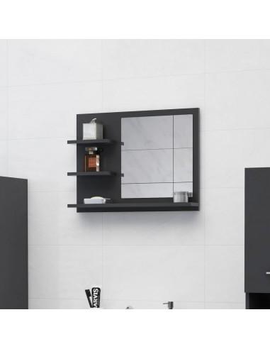 Vonios kambario veidrodis, pilkos spalvos, 60x10,5x45cm, MDP   Vonios Spintelės   duodu.lt