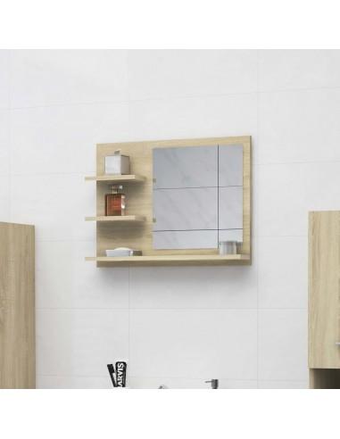 Vonios kambario veidrodis, ąžuolo spalvos, 60x10,5x45cm, MDP   Vonios Spintelės   duodu.lt