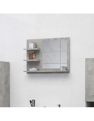 Vonios kambario veidrodis, betono pilkas, 60x10,5x45cm, MDP   Vonios Spintelės   duodu.lt
