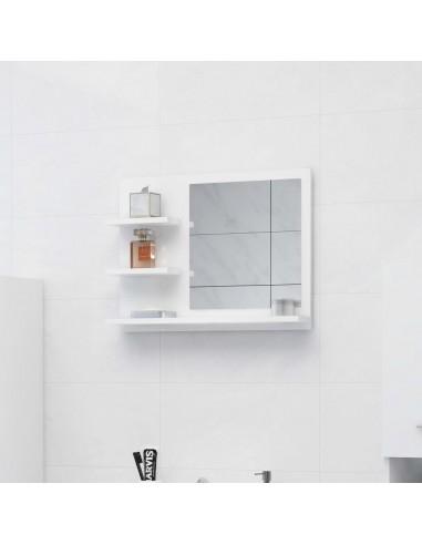 Vonios kambario veidrodis, baltas, 60x10,5x45cm, MDP, blizgus | Vonios Spintelės | duodu.lt