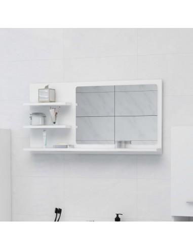 Vonios kambario veidrodis, baltos spalvos, 90x10,5x45cm, MDP   Vonios Spintelės   duodu.lt