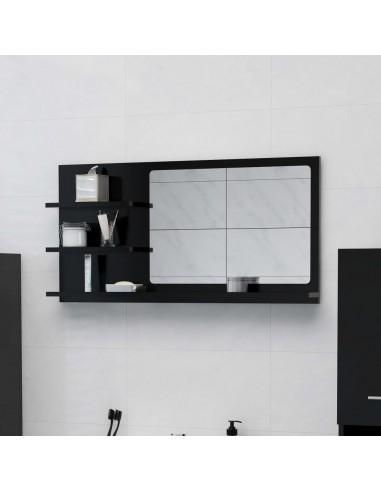 Vonios kambario veidrodis, juodos spalvos, 90x10,5x45cm, MDP | Vonios Spintelės | duodu.lt