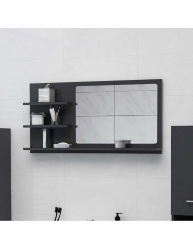 Vonios kambario veidrodis, pilkos spalvos, 90x10,5x45cm, MDP | Vonios Spintelės | duodu.lt