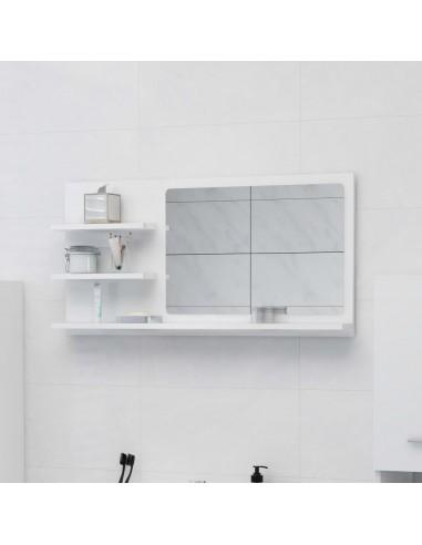 Vonios kambario veidrodis, baltas, 90x10,5x45cm, MDP, blizgus   Vonios Spintelės   duodu.lt