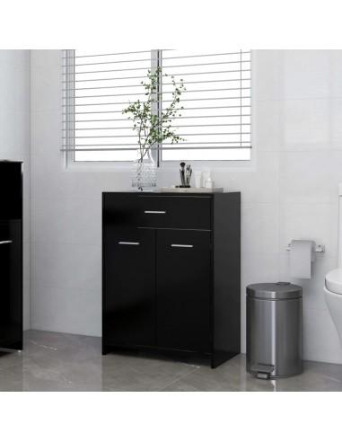 Vonios kambario spintelė, juodos spalvos, 60x33x80cm, MDP | Vonios baldų komplektai | duodu.lt
