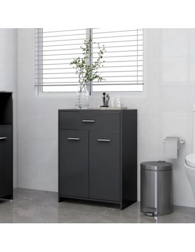 Vonios kambario spintelė, pilkos spalvos, 60x33x80cm, MDP | Vonios baldų komplektai | duodu.lt